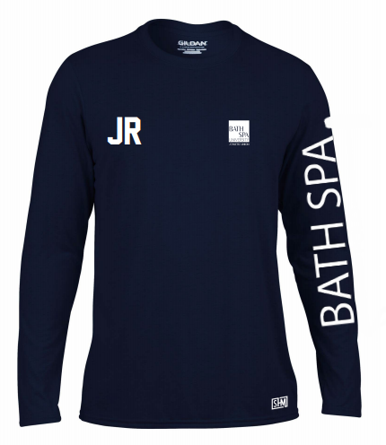 Bath Spa Polo Womens Navy Long Sleeved Performance Tee