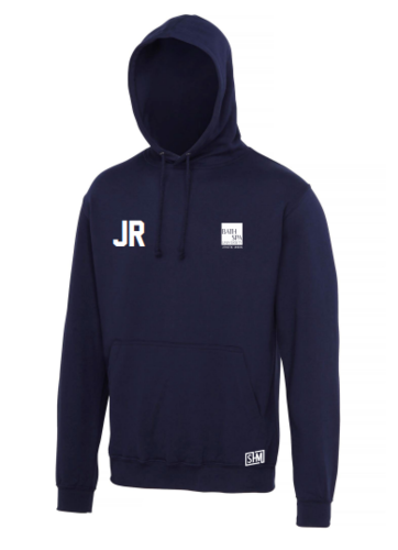 Bath Spa Polo Mens Navy Hoody (Bath Spa Polo In White On The Top Back In Small)