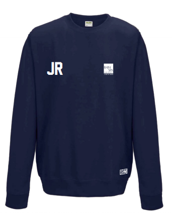 Bath Spa Polo Unisex Navy Sweatshirt (Bath Spa Polo In White On Top Back In Small)