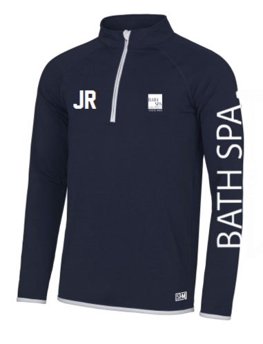 Bath Spa Polo Mens Navy Performance Sweatshirt