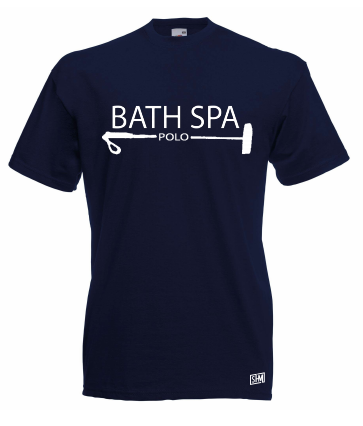 Bath Spa Polo Mens Navy Cotton Tee