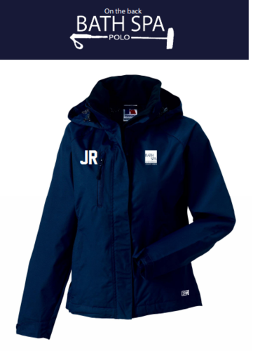 Bath Spa Polo Womens Hydroplus Navy Waterproof Jacket