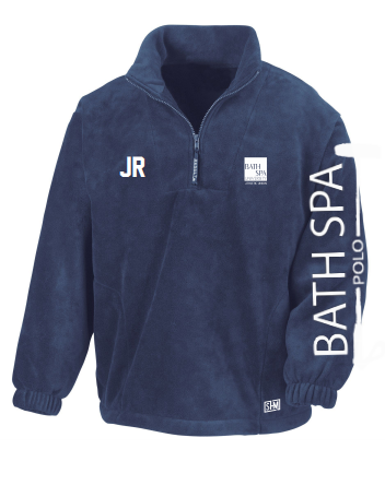 Bath Spa Polo Unisex Navy Fleece (Logo On Arm Will Not Be On Finished Product)
