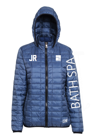 Bath Spa Polo Womens Honey Comb Navy Hooded Jacket