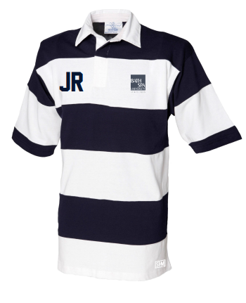 Bath Spa Polo Nay & White Unisex Stripe Polo