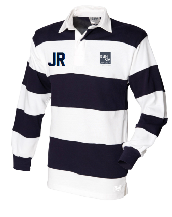 Bath Spa Polo Unisex Navy & White Long Sleeved Polo