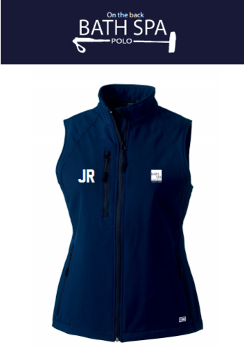 Bath Spa Polo Womens Navy Gilet Softshell
