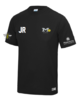Manchester Water Polo Black Mens Performance Tee (All Print)