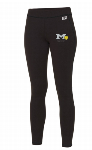 Manchester Water Polo Black Womens Leggings (All Print)