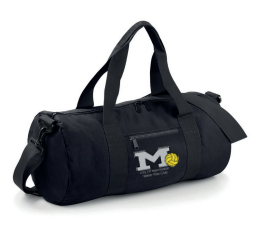 Manchester Water Polo Black Barrel Bag (All Embroidery)