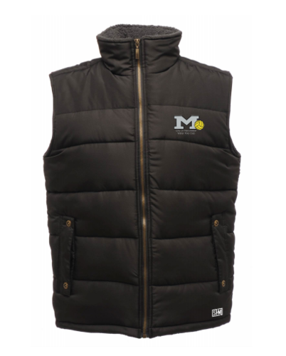 Manchester Water Polo Black Mens Gilet (All Embroidery)