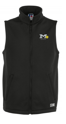 Manchester Water Polo Black Mens Gilet Softshell (All Embroidery)