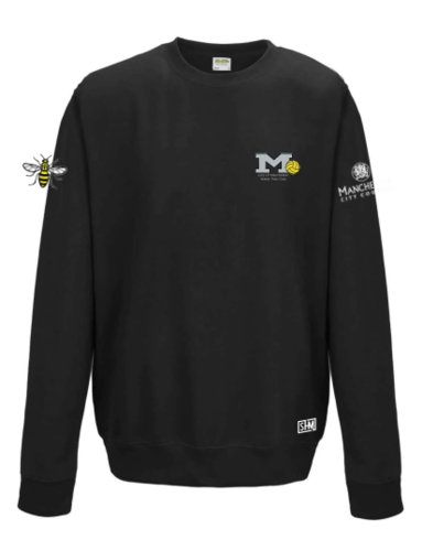 Manchester Water Polo Black Unisex Sweatshirt (All Embroidery)