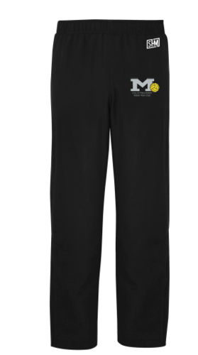 Manchester Water Polo Black Mens Trackies (All Embroidery)