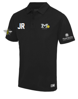 Manchester Water Polo Black Childrens Performance Polo (All Embroidery)