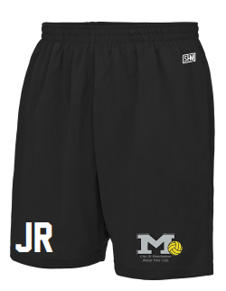 Manchester Water Polo Black Childrens Shorts (All Embroidery)
