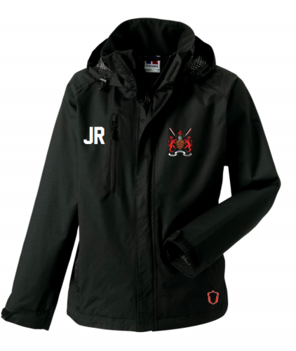 Hartpury Rowing Black Womens Hydroplus Jacket (Logo Embroidery, Everything Else Print)