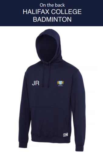 Halifax Badminton Womens Navy Hoody (Everything Embroidery, Everything Else Print)