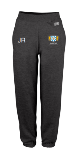 Halifax Badminton Navy Mens Sweatpants (Logo Embroidery, Everything Else Print)