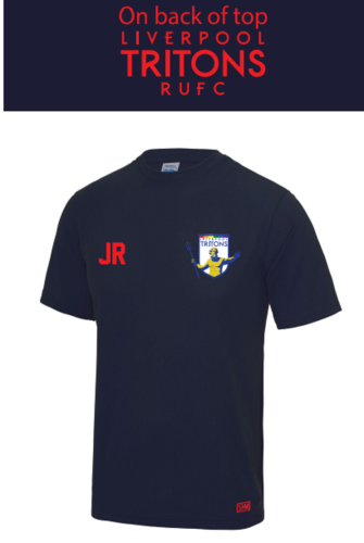 Tritons Rugby Navy Performance Tee (All Print)