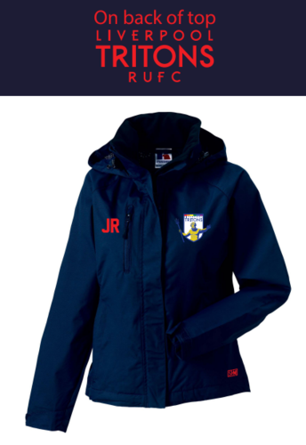 Tritons Rugby Mens Navy Hydroplus Jacket (Logo Embroidery, Everything Else Print)