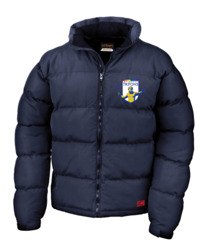 Tritons Rugby Mens Navy Puffa (Embroidery Logo, Everything Else Print)