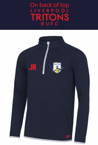 Tritons Rugby Navy Mens Performance Sweatshirt (Logo Embroidery, Everything Else Print)