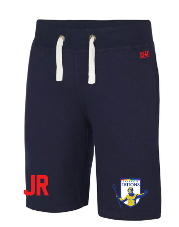 Tritons Rugby Navy Mens Sweat Shorts (Embroidery Logo, Everything Else Print)