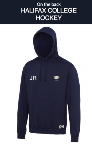 Halifax Hockey Navy Womens Hoody (Logo Embroidery, Everything Else Print)