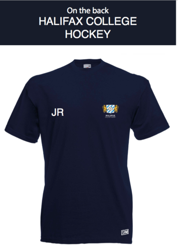 Halifax Hockey Navy Womens Cotton Tee (All Print)