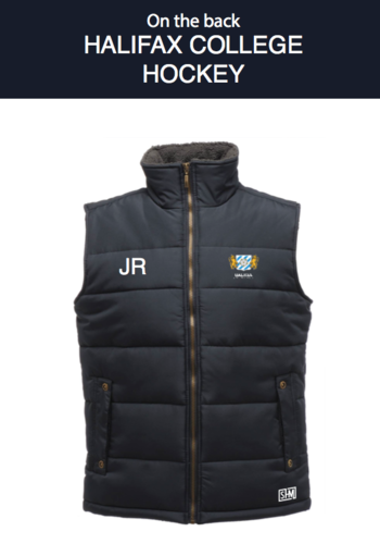 Halifax Hockey Navy Unisex Gilet (Logo Embroidery, Everything Else Print)