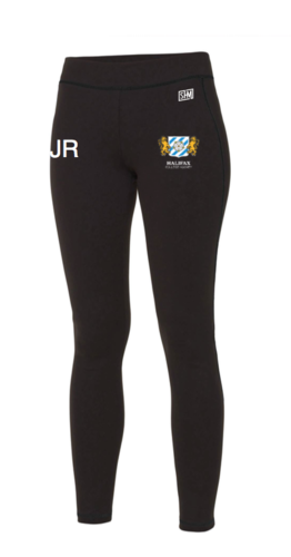 Halifax Hockey Black Womens Leggings (All Print)