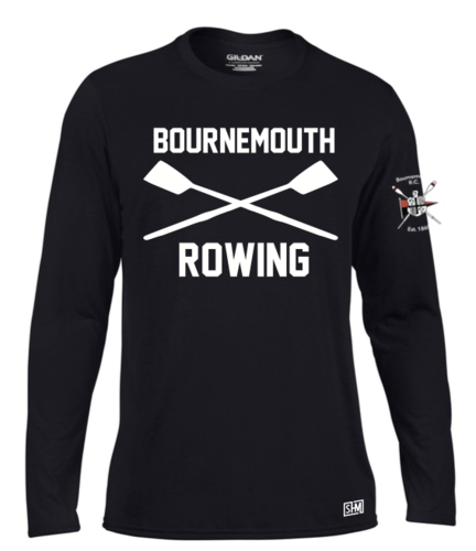 Bournemouth Rowing Black Womens Long Sleeved Performance Tee (All Print)