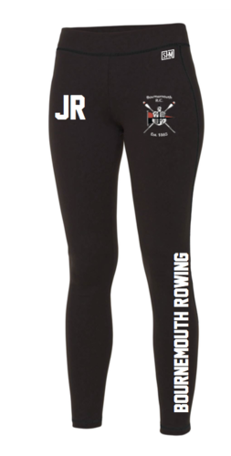 Bournemouth Rowing Black Womens Leggings (All Print)