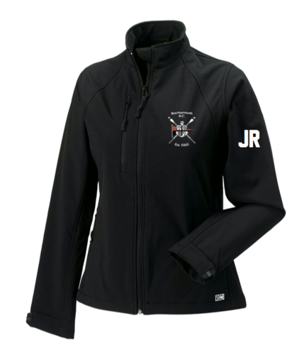 Bournemouth Rowing Black Mens Softshell Jacket (Logo Embroidery, Everything Else Print)