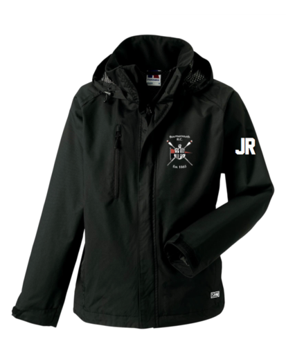 Bournemouth Rowing Black Mens Hydroplus Hooded Jacket (Logo Embroidery, Everything Else Print)