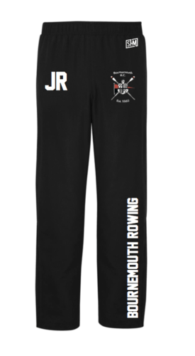 Bournemouth Rowing Black Mens Trackies (Logo Embroidery, Everything Else Print)