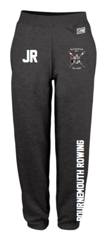 Bournemouth Rowing Black Womens Sweatpants (Logo Embroidery, Everything Else Print)