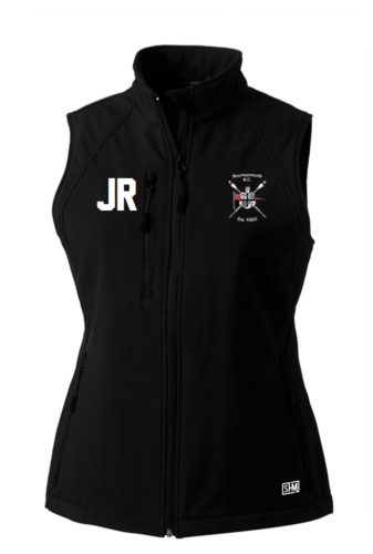 Bournemouth Rowing Black Womens Softshell Gilet (Logo Embroidery, Everything Else Print)