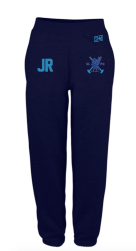 Liverpool Polo Navy Mens Sweatpants (Logo Embroidery, Everything Else Print)