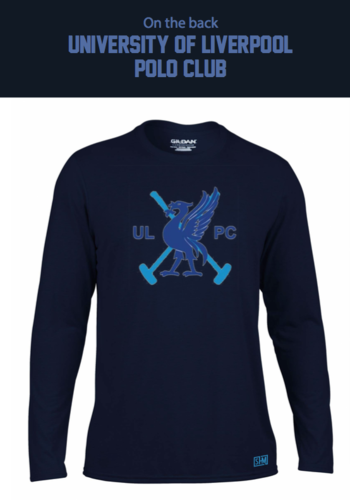 Liverpool Polo Navy Mens Long Sleeved Performance Tee (All Print)