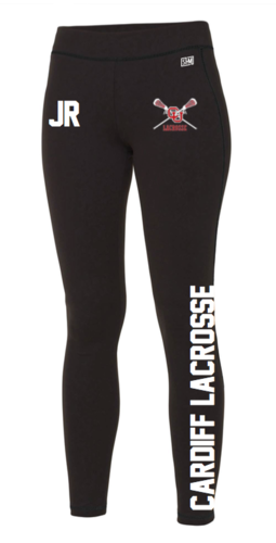 Cardiff University Lacrosse Black Womens Leggings (All Print)