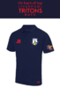 Triton Rugby Navy Mens Performance Polo With Sponsor (Two Logos Embroidery, Everything Else Print)