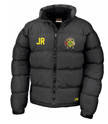 Northwich Rowing Black Womens Puffa (Embroidery Logo, Everything Else Print)