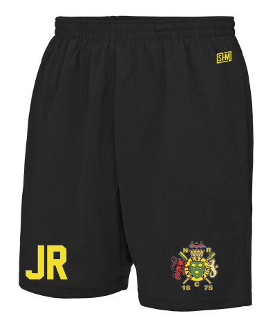 Northwich Rowing Black Unisex Shorts (Logo Embroidery, Everything Else Print)