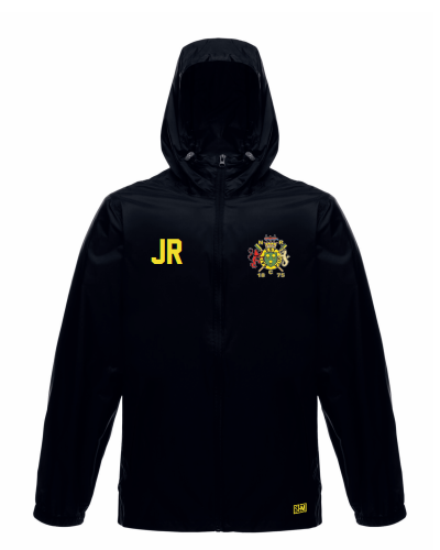 Northwich Rowing Black Unisex Windbreaker (Logo Embroidery, Everything Else Print)