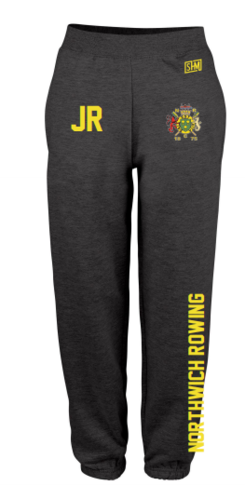 Northwich Rowing Black Womens Sweatpants (Logo Embroidery, Everything Else Print)