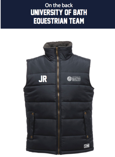 Bath Equestrian Navy Unisex Gilet (Logo Embroidery, Everything Else Print)