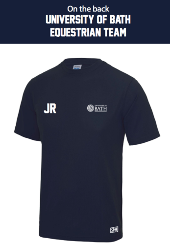 Bath Equestrian Navy Mens Performance Tee (All Print)