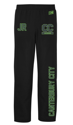 Canterbury Lacrosse Black Mens Trackies (Logo Embroidery, Everything Else Print)